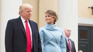 Donald and Melania Trump depart St John's Episcopal Church