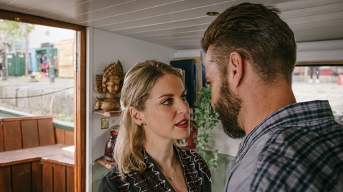 Amy Huberman and Brahm Gallagher in Striking Out
