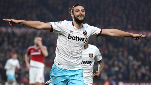 Andy Carroll scored twice in the first half