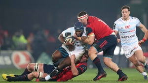 Eddy Ben Arous is tackled by Donnacha Ryan