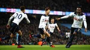 Heung-Min Son (centre) levelled the match