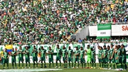 The players and fans of Chapecoense football team pay their respects ahead of the friendly match against Palmeiras