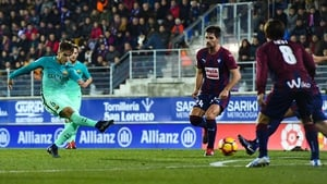 Denis Suarez scores his first goal for Barca