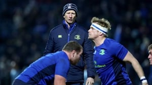 Leo Cullen watches over line-out training