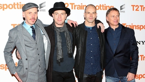 Together again - Ewen Bremner, Ewan McGregor, Jonny Lee Miller and Robert Carlyle at T2: Trainspotting's world premiere