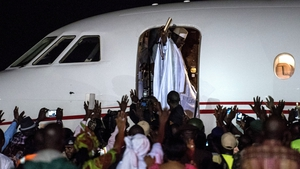 Gambia's former leader Yahya Jammeh left Banjul in the early hours of yesterday