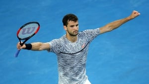 Grigor Dimitrov is through to his first grand slam quarter-final in over two years