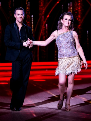 Week 3: Check out those pins! Teresa Mannion shone as she Cha Cha Cha'd her way across the dance floor with John Nolan.
