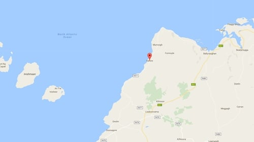 The coach had stopped on the coast road between Fanore and Lisdoonvarna at around 12.30pm