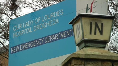 The man is being treated at Our Lady of Lourdes Hospital Drogheda