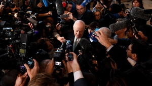 Staffan de Mistura speaking to media during the second day of peace talks in Astana