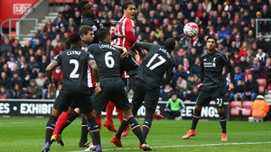 Virgil van Dljk climbs above the Liverpool defence during last season's Premier League tie at St Mary's