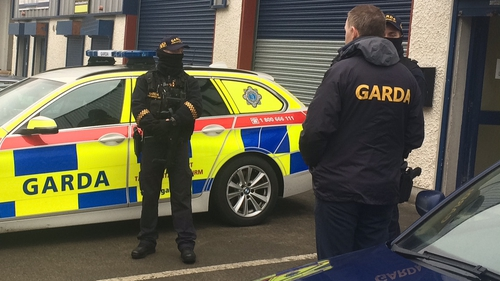 Gardaí raided a warehouse on Tuesday