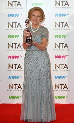 Mary Berry looked classically beautiful on the night with her award for Best TV Judge