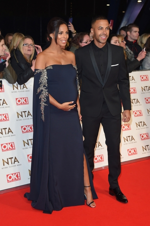 Another beautifully dressed bump - this time by Rochelle Humes who posed with hubby Marvin