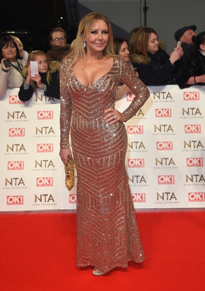 Carol Voderman went all out sequins