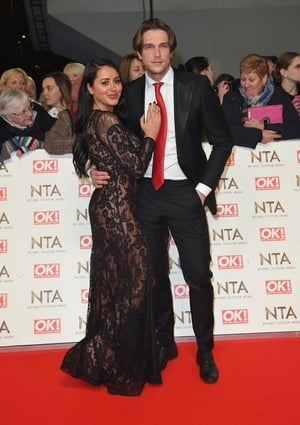 Marnie Simpson with Lewis Bloor. Her see-through dress resulted in a few raised eyebrows...