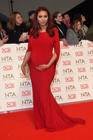 Amy Childs joins Helen and Rochelle in the stylish mums-to-be on the red carpet