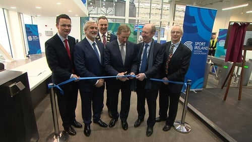 The new Sport Ireland National Indoor Arena was officially opened today