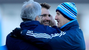 Clarke (r), Bryan Cullen (c) and Jim Brogan will be on the line for Dublin again