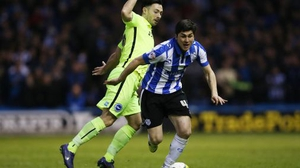 Richie Towell (L) has made only three appearances for Brighton