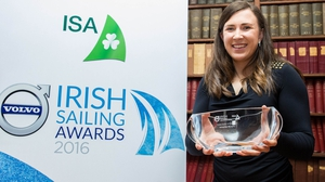 Annalise Murphy with her Sailor of the Year trophy