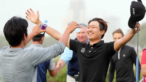 Wang Jeunghun toasts another victory