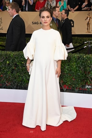 How can one actress have so many amazing pregnant red carpet looks? Oh, its Natalie Portman...in Dior with Tiffany & Co. jewelry.