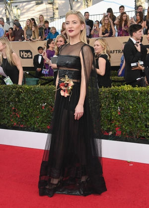 Kate Hudson in a partially sheer Dior dress.