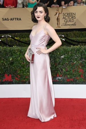 Miss: We love GoT's Maisie Williams. Not so mad about the dress colour paired with that strong lippy though.