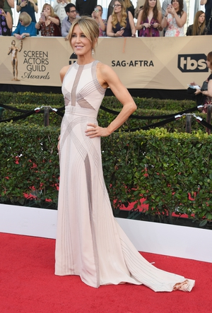Best: Felicity Huffman and her fashion just keeps getting better with age. Here she is in Antonio Grimaldi.