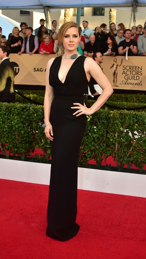 Best: Amy Adams deserves to strike a pose in this Brandon Maxwell dress. It is black but it is also fab.