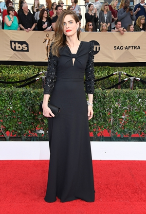 Best: It was wonderful to see Amanda Peet back on the red carpet in this gorgeous floor lengths Michael Kors.