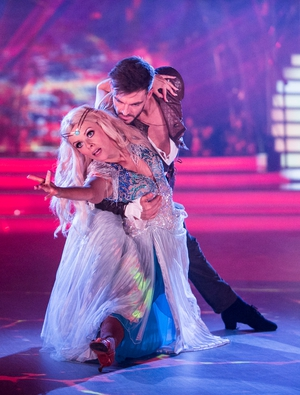 Week 4: Denise and Ryan brought the heat of Middle Earth to their rumba during last night's performance.