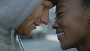 Ed Sheeran and Jennie Pegouskie in the Shape of You video