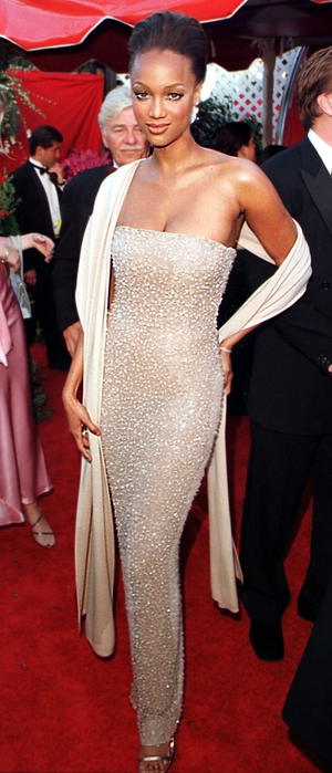 Tyra Banks in Halston (1998)