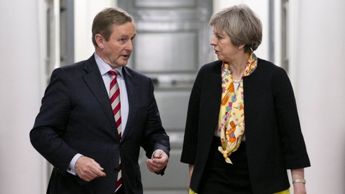 Enda Kenny and Theresa May spoke on the phone this morning (File pic)