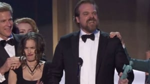 Actress Winona Ryder stole the show at the Screen Actors Guild Awards thanks to her hilarious series of expressive reactions to actor David Harbour's speech