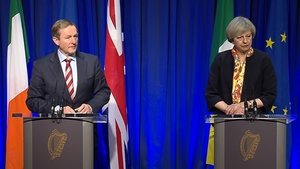 Enda Kenny and Theresa May have met in person for the first time since the British prime minister visited Dublin in January