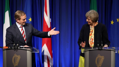 Both leaders vowed there would no return to a hard border with Northern Ireland