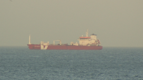 The 11-year-old vessel was anchored in the bay to avoid costly harbour fees