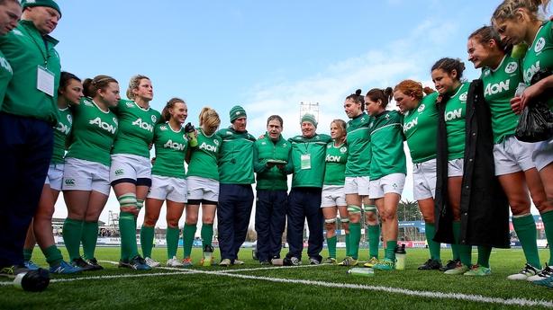 Irish women's rugby players
