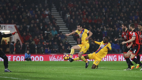 Scott Dann scores for Crystal Palace