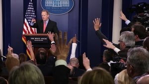 Sean Spicer's comments brought looks of astonishment from the assembled White House press corps