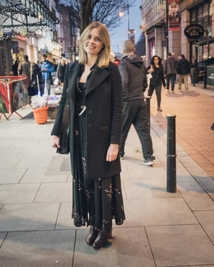 Aoife Maher: We love Aoife's look. Perfect for both day and night and check out her fab boots.