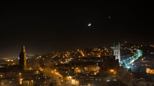 The conjunction as seen over Cork last night (pic: Cian O'Regan Photography)