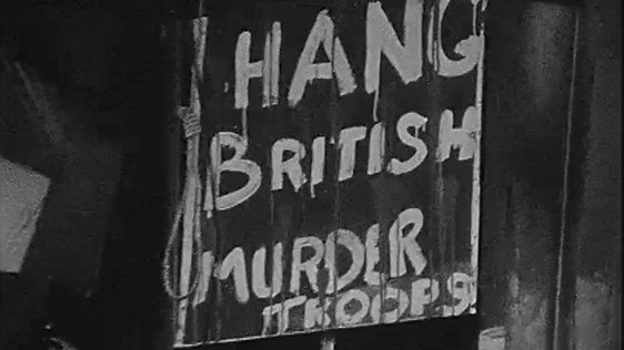 Protest Sign at British Embassy (1972)