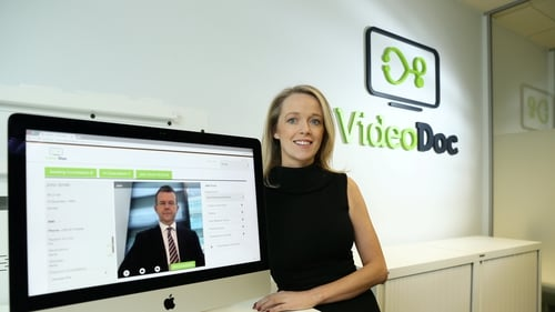 Morning business news with Adam Maguire, who talks to Videodoc's Mary O'Brien