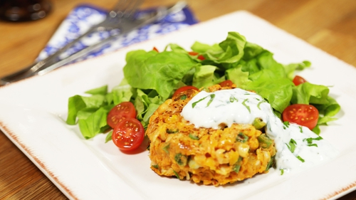 Meat-Free Week! Curried Chickpea & Sweet Potato Burger