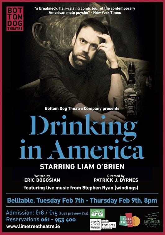 """Drinking in America"", a series of monologues performed by Liam O'Brien and Steve Ryan"